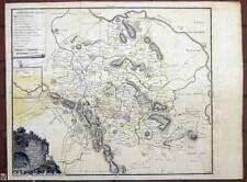 Karte von der Grafschaft Lippe - Karte-Map - Fhr. v. Donop 1784 Detmold-selten!