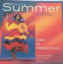 "DONNA SUMMER - State of Independence 12"" Disco Long Version Casablanca"