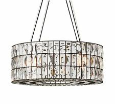 POTTERY BARN Adeline Crystal ROUND Chandelier, NEW