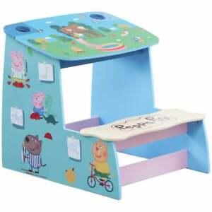 Peppa Pig 48cm x 55cm Wooden Play Desk with Chalk Board & Storage