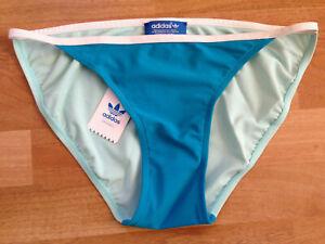 Adidas Brazilia Bikini Bottoms Swimming Briefs, Blue / Green / Turquoise