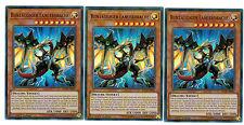 YUGIOH 3 X (3 carte) buntäugiger lancerdrache bllr-de001, 1. EDIZIONE ULTRA RARE