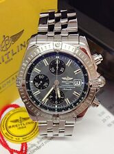 Breitling Chronomat Evolution A13356 Grey Dial B&P 2007 - Serviced by Breitling!