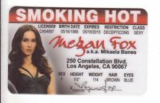 Mikaela Banes of the TRANSFORMERS novelty collectors card Drivers License
