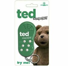 TED IN YOUR POCKET TEDDY BEAR HILARIOUS WHIMSICAL ENTERTAINING VOICE KEY CHAIN