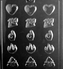 M256 Emoji Assortment Chocolate Candy Soap Mold with Instructions