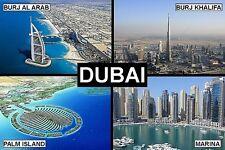 SOUVENIR FRIDGE MAGNET of DUBAI UAE