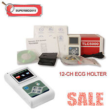 CONTEC 12-CHANNEL 24hours Dynamic ECG Systems ECG / EKG holter OLED TLC SOFTWARE