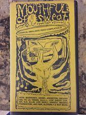 Mouthful of Sweat VHS tape Chemical Imbalance Unsane GG Allin Unrest Mudhoney