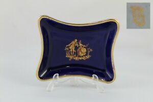 Limoges The Seynie Plate Sign IN Miniature, Dust Of Gold 24kt Image Of Age