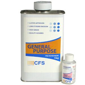 Fibreglass 1KG Polyester Resin CFS LLoyds Marine Grade