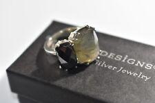 "SILPADA - R3130 - Hematite Labradorite Sterling Silver ""Ebony"" Ring Sz 7"