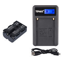 NP-FM500H 2000mAh Battery+Charger for Sony A200K A200W A350 SLT A57 SLT A99