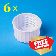 Set of 6 Cheese making Molds 0.6 L. Professional Basket Mold for cheesemaking