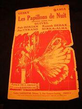 Partition Les papillons de nuit Guivel Cyrano Music Sheet