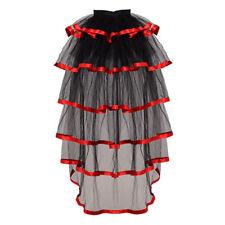 Ladies Victorian Steampunk Black Bustle Women Tutu Belt Lace Underskirt 1 PC