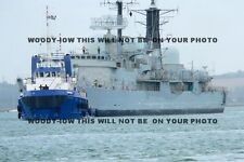 mp158 - Royal Navy Warship - HMS Exeter off to breakers  - photo 6x4