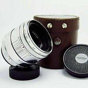 Early HELIOS-44 f2/58mm. Red P - 13 blades aperture - SERVICED - MADE in USSR