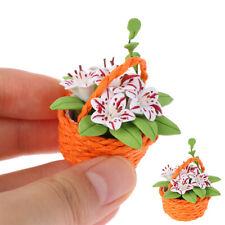 1:12 DollHouse Miniature Potted PlantOrnament Mini Flowers Pot Doll House Dec_ws