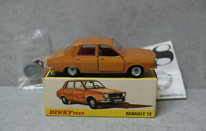 French Dinky 1424 Renault 12  Brown with sign In Original Near Mint Boxed