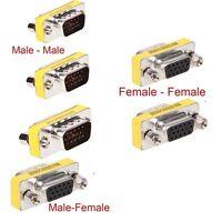 15 Pin HD SVGA VGA male Female gender changer adapter