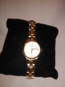 Caravelle by Bulova Womens Watch Two tone Silver & Gold Link Bracelet #45L27