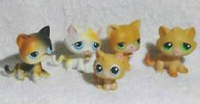 5 LITTLEST PET SHOP CATS Kitty RARE Authentic LPS Red Magnet Tabby Short Haired