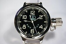 Russian USSR Soviet Divers watch Zlatoust. VMF CCCP Deep Sub. 700m. Black