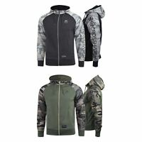 Mens Hoodie Crosshatch Leymoor Zip Hooded Top