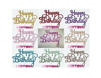 10 Pack of Happy Birthday Cake Toppers Wholesale Bulk Buy Glitter Decoration UK