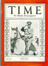MAGAZINE TIME  CHIANG KAI SHEK   December 11 1933
