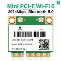 3000Mbps Mini PCI-E WiFi 6 Wireless Card 802.11AX Dual Band Bluetooth 5.0 Card