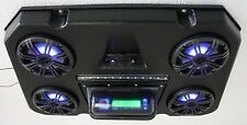 NEW! POLARIS RZR 900-1000 STEREO RADIO QUAD POD 4-SPEAKER LIGHTED SYSTEM!
