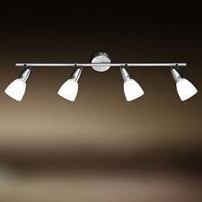 Wofi Deckenleuchte Nixon 4-flg Nickel Glas weiß Spots verstellbar 132 Watt Lampe