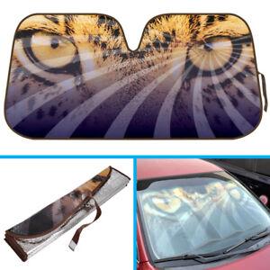 Beautiful Leopard Eyes Car Sun Shade - Reflective Windshield Sunshade UV Cover