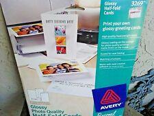 Avery Half Fold Cards For Ink Jet Printer #3269 Opened  9 Envelopes  8 Cards