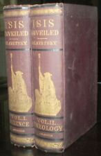 RARE, 1893, ISIS UNVEILED, by H P BLAVATSKY, ANCIENT & MODERN MYSTERIES, OCCULT