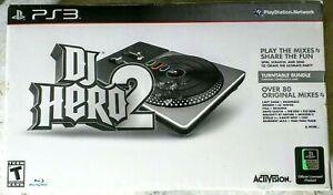 DJ HERO 2 Turntable Bundle PS3 (DAMAGED BOX: SEALED)