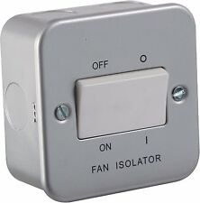 10A 1G Pôle Triple 230V Gaine Métallique Ventilateur Interrupteur D'isolement