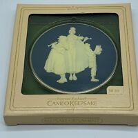 Vintage Victorian Christmas Norman Rockwell Cameo Keepsake Ornament 1981 Caroler