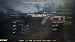 Fallout 76 (PC )  Quad Explosive 90  Reduce Weight   Handmade