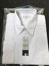 """Mens Easy Care white long sleeve shirt .White. 16"""""""