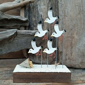 Swooping Seagulls Small Standing Nautical Decoration by Shoeless Joe