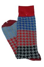 Lord R Colton Men's Red Gray & Blue Check Dress Socks - $28 Retail - New
