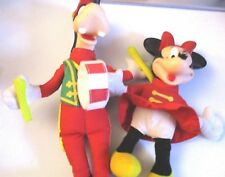 Disney Marching Band Minnie and Goofy Plush Vinyl head Toys.