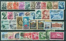 1961U ITALIA 1961 Annata completa USATA 36 valori, escluso Gronchi Rosa, buone/o