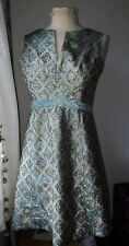 Original Vintage 1960s Gold Lurex Brocade Dress 10/12