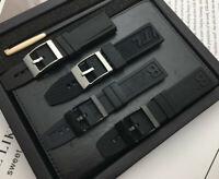 Rubber Watchband Bracelet For Navitimer/avenger/Breitling Strap Buckle Black