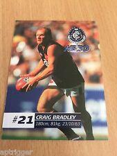 2002 Official AFL Herald Sun Sticker Series Carlton Craig BRADLEY