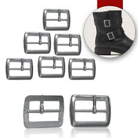 Metal Silver Buckles Adjustable Fastener Replacement Leather Craft Shoes 20mm